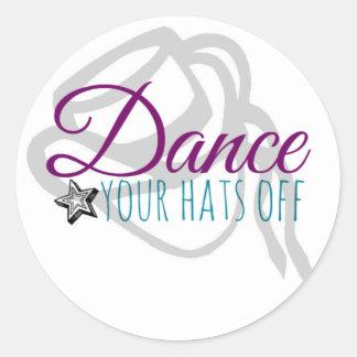 Danse d'équipe d'entraînement vos chapeaux sticker rond