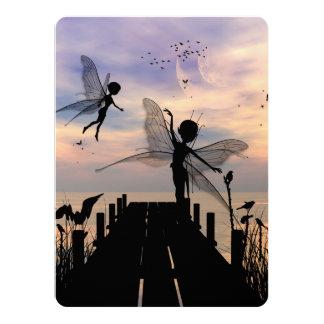 Danse féerique mignonne sur une jetée carton d'invitation  13,97 cm x 19,05 cm