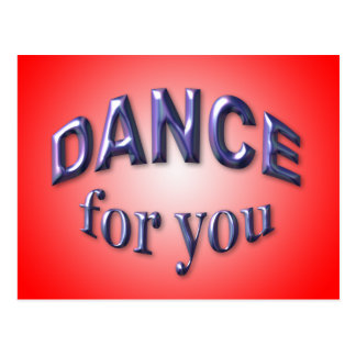 Danse pour vous carte postale