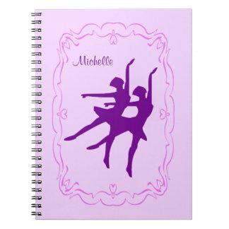 Danse pourpre de ballerine carnet