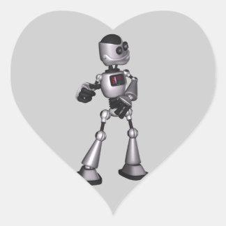 danse tramée de type de robot de la science sticker cœur