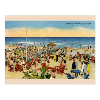 Danse vintage de Surfside en carte postale de la