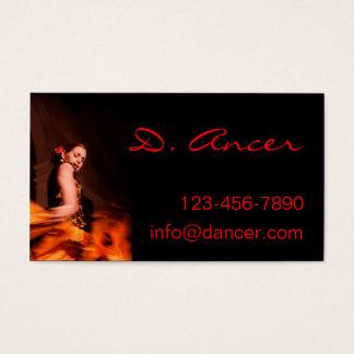 danseur de flamenco cartes de visite