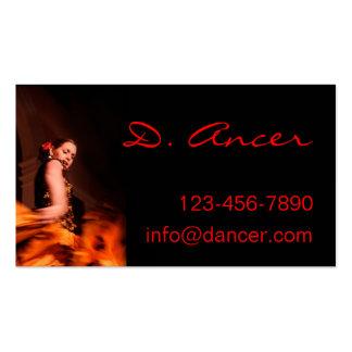 danseur de flamenco modèle de carte de visite