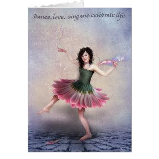 danseur de marguerite avec le sentiment carte