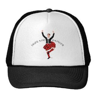 Danseur des montagnes écossais rouge et noir casquette