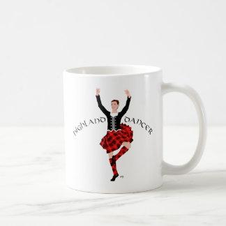 Danseur des montagnes écossais rouge et noir tasses à café