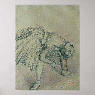 Danseur fixant sa pantoufle, c.1865 poster