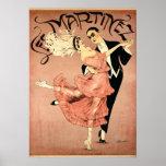 Danseurs 1920 de tango de ~ d'art déco poster