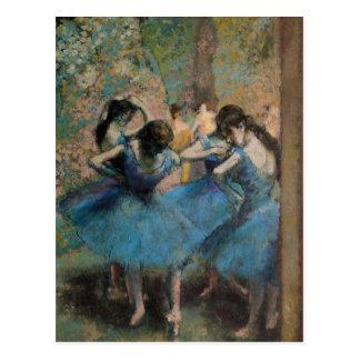 Danseurs dans le bleu, 1890 cartes postales