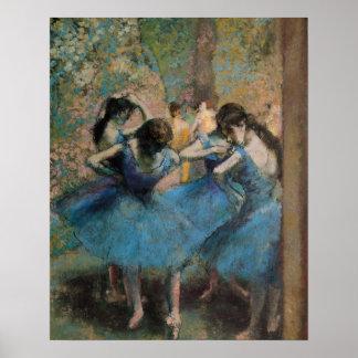 Danseurs dans le bleu, 1890 poster