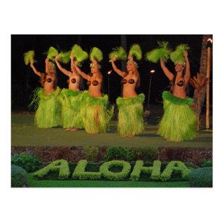 Danseurs de danse polynésienne carte postale