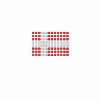 Danske Flag Herre Poloshirt - Danish Flag Embroidered Shirts