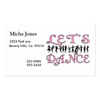 Dansons les couples de danse cartes de visite personnelles
