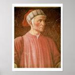 Dante Alighieri (1265-1321) detail of his bust, fr Poster