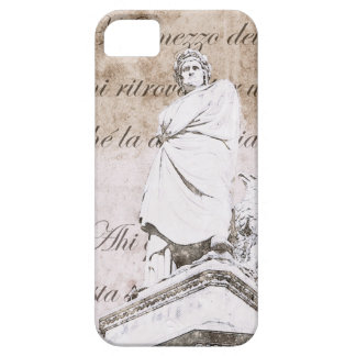 Dante Alighieri with Divine Comedy verses iPhone 5 Covers