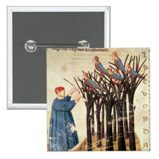 Dante and the Souls Transformed into Birds 2 Inch Square Button