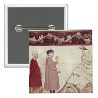 Dante and Virgil  meet the souls imprisoned 2 Inch Square Button