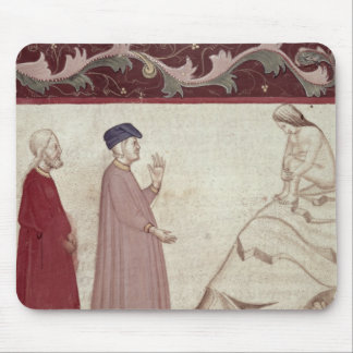 Dante and Virgil  meet the souls imprisoned Mouse Pad