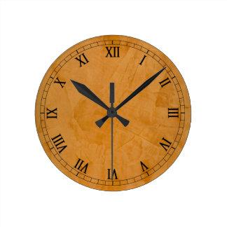 Dante Faux Finish Roman Numerals Round Clock