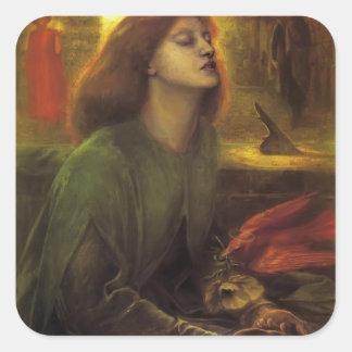 Dante Gabriel Rossetti- Beata Beatrix Square Sticker