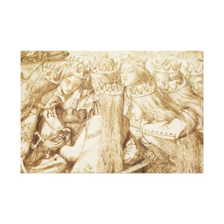 Dante Gabriel Rossetti - Design for Moxon's Tennys Canvas Print