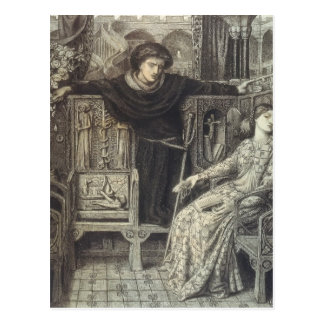 Dante Gabriel Rossetti: Hamlet and Ophelia Postcard