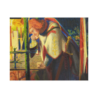Dante Gabriel Rossetti - Sir Galahad at the Ruined Canvas Print