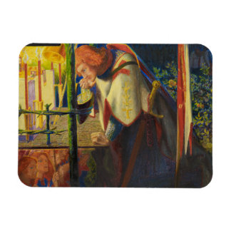 Dante Gabriel Rossetti - Sir Galahad at the Ruined Rectangular Photo Magnet