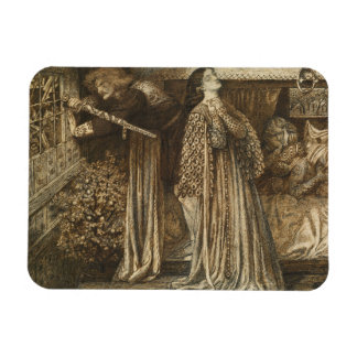 Dante Gabriel Rossetti - Sir Launcelot Rectangular Photo Magnet