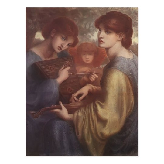 Dante Gabriel Rossetti: The Bower Meadow Postcard