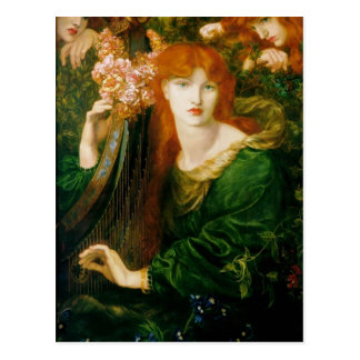 Dante Gabriel Rossetti- The Garland Postcard