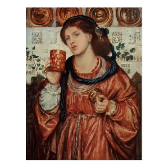 Dante Gabriel Rossetti- The loving cup Postcard
