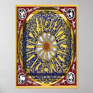 dante zodiac poster