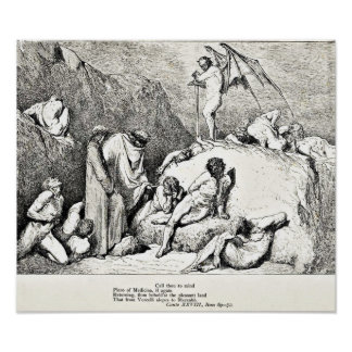 Dante's Divine Comedy Engraving Illustration Poster
