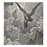Dante's Divine Comedy Illustration Eagle Engraving Poster