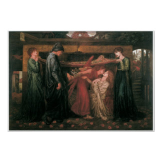 Dante's Dream at the Time of the Death of Beatrice Poster