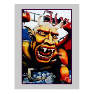 Dante's Inferno Devil (Coney Island, NY) postcard