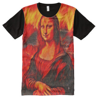 Dante's Inferno Mona Lisa Version All-Over-Print T-Shirt
