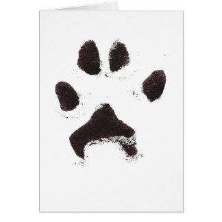 Dante's Pawprint Card
