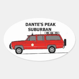Dante'S Peak Suburban Oval Sticker