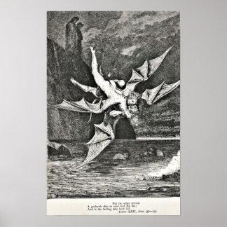 Dante's Purgatory Gustave Dore Illustration Demons Poster