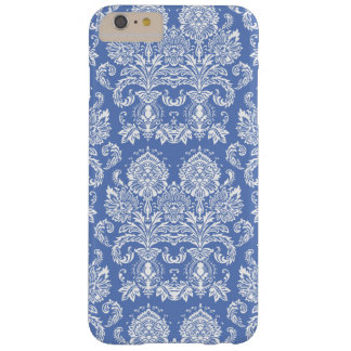 Danube Blue Victorian Damask Barely There iPhone 6 Plus Case