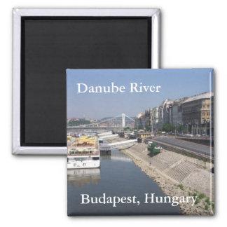 Danube River, Budapest, Hungary Square Magnet
