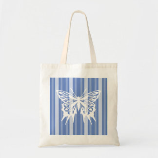 Danube Victorian Stripe with Butterfly Tote Bag