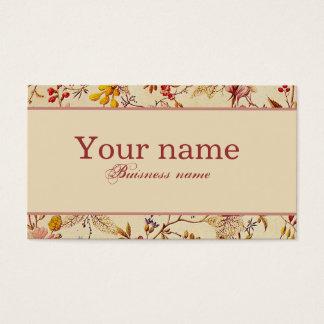 Daphne, pretty vintage floral buisness card