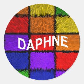 DAPHNE ROUND STICKER