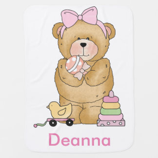 Daphne's Teddy Bear Personalized Gifts Baby Blanket