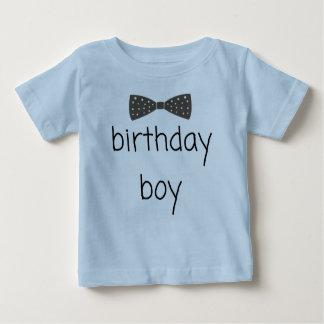 Dapper birthday boy T-shirt with bow tie