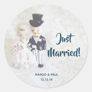 Dapper Dolls Just Married Sticker
